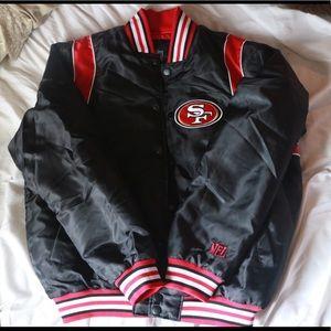 Hot Official NFL Shop Jackets & Coats | San Francisco 49ers Mens Jacket  free shipping